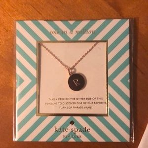 "Kate Spade One in a Million ""R"" Necklace"